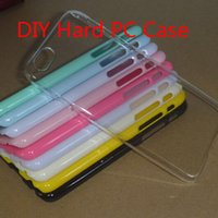 Wholesale Hard Plastic Clear Iphone4 Case - Cell phone DIY Hard Crystal Transparent Clear Candy Colorful PC Hard Plastic Case For iphone4 5 6 plus Mobile Phone Case Back Cover