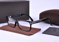 Wholesale Big Eyeglasses Frames - Men Optical Glasses Frame Tom 5146 Brand Designer Plank Big Frame Eyeglasses Frames for Women Retro Myopia Eyeglasses Frames with Case