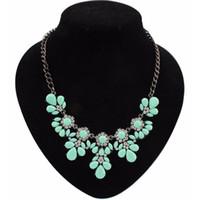 Wholesale Gem Collars - Wholesale-Statement Necklace 2016 Choker Fashion Charms Crystal Gem Cubic Zircon Drop Pendant Collar Necklaces&Pendants Women Fine Jewelry