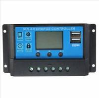 controlador de carga solar pantalla lcd al por mayor-Controlador de carga solar inteligente de la pantalla del hogar 20A 12V / 24V LCD con el puerto del USB