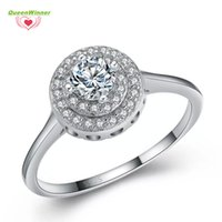 S925 Fashion Shinning Corea Anello in argento sterling 100% 925 di alta qualità di lusso per le donne Wedding White Diamond Party Lover regalo vendita calda S-02