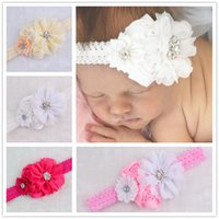 Wholesale cheap vintage hair accessories - Baby Girls Kids Lovely Pierced Hair Bands Vintage Flowers Hair Accessories Pretty Headbands Infant Headband 10 Colors Cheap
