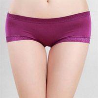 Wholesale Pantie Women - Wholesale-SIF Women Satin Boy Shorts Ladies Boxers Briefs Knickers Pantie Underwear JAN 20