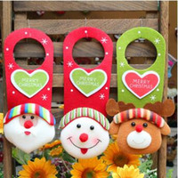 Wholesale Cartoons Hangings Doors - 3 Style Merry Christmas Non-wovens Fabric Door Hanging Hotel Home Door Ornament Decoration Hanging Pendant Xmas Gift CCA7778 120pcs