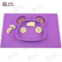 Wholesale Dinner Plates For Sale - Hot Sale Table Placemats Heat Resistant Baby Silicone Kids Placemat One Piece Dinner Plates with FDA LFGB standard for wholesale -F023