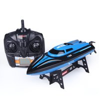 Wholesale Water Control Boats - H101 RC Boat 2.4GHz 4 Channel remote control boat charging high - speed water -cooled remote control speedboat children toy gift boat model