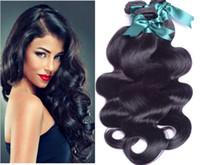 işlenmemiş insan saçı doğal dalgalı toptan satış-7A Brezilyalı Vücut Dalga Atkı İnsan Saç Dokuma Dalgalı Uzantıları Doğal Renk Boyanabilir Ağartılabilir Işlenmemiş GALI Kraliçe Saç Ürünleri 3 adet