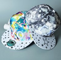 Wholesale Blue Sky Exo - Fashion Cayler Son Snapbacks Hats EXO 3D Embroidery Galaxy Hat Snapback Hip Hop Cotton Adjustable Strapback Cap Men And Woman Summer Caps