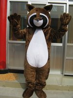 Wholesale Raccoon Mascot - High-quality Real Pictures Deluxe Raccoon Mascot Costume Mascot Cartoon Character Costume Adult Size free shipping