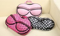 Wholesale Bras Travel Box - Noverty underwear boxes Underwear bra storage box with a cover on it Receive a travel bag portable pressure defense 90 pcs