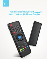 Wholesale play full games - Air Mouse Wireless Handheld Backlight Keyboard H1 2.4GHz Full Touchpad Remote Control For MX CS918 TV BOX Game Play Tablet Mini PC