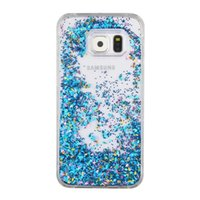 brilho bling estojo para iphone 4 venda por atacado-Quicksand diamante estrela hard case para samsung galaxy a710 a510 s5 s6 s7 edge iphone 6 6 s plus 5 5S se 4 s glitter líquido bling tampa dinâmica