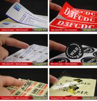 ingrosso tagliare gli adesivi personalizzati tagliati-1000pcs moq logo personalizzato / marca adesivi stampati adesivi forma fustellata con qualsiasi dimensione vasetti / barattoli / borse / scatole / matrimonio / adesivi di imballaggio festival