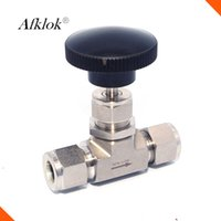Wholesale High Pressure Valve Stem - Adjustable Double Ferrule 3000psi Stainless steel 316 Mini Needle Valve with Regulating Stem Tip for Natural Gas