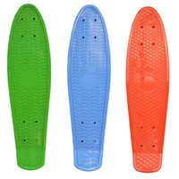 "Wholesale Retro Cruiser Skateboard - Wholesale-New Retro Mini Cruiser Plastic Skateboard Deck 22"""