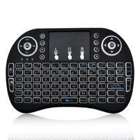 Купить Bluetooth Клавиатура Мышь I8-Rii I8 Смарт Fly Air Mouse Remote Keyboard Подсветка 2.4GHz Беспроводная связь Bluetooth пульт дистанционного управления Сенсорная панель Для S905X S912 TV Box Android X96 T95