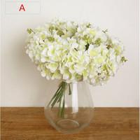 neujahrsblume großhandel-New Year Hot Vivid 3 Zweige Herbst Künstliche Gefälschte Blume Hause Zimmer Braut Hortensien Decor Real Touch Kostenloser Versand B96