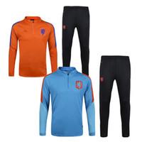 Wholesale Netherlands Training - 2017 Netherlands Soccer Jersey tracksuit jacket 2016 Football training suit kits long sleeve Robben SNEIJDER V.PERSIE MEMPHIS Holland jersey