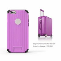 Wholesale Iph Covers - For Iphone 6s 6 Plus New Style Suitcase Design Drop Resistance Cellphone cases Double Shell Structure TPU+PC Waterproof Cases Covers For Iph
