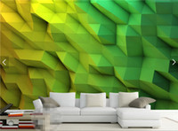 3d Wallpaper Abstract Foto Murale per Soggiorno Camera da letto Wall Paper Rolls carta da parati 3d carta da parati rollo Green Custom