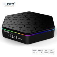 4k tv box octa 2gb großhandel-Amlogic S912 TV-Boxen T95Z plus 2 GB 16 GB Octa-Kern 2.4G / 5G WIFI BT4.0 4K H.265 Android 7.1 Smart-TV-Box