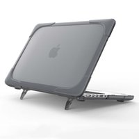 Wholesale New Design Laptop Cases PC TPU Shell For Apple MacBook Air Full Body Protective With Stand Function OPP BAG