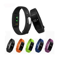 Wholesale Oled Iphone - ID107 Smart Band Wristband Fitness Tracker Heart Rate Monitor Wearable Devices with OLED Screen For Android iphone VS mi band 2