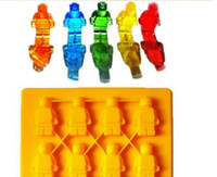 Wholesale Star Shaped Mold - Silicone Ice Cube Tray Molds Lego Shaped Mini Robot Figure Star Wars Chocolate Cake Mold for Kitchen Gadgets Household Tools Creative