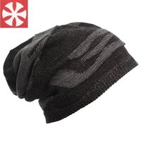Wholesale-Male Winter Outdoor Keep molleton chaud Doublure Beanie Knitting Ski Hat Femmes Hat