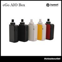 ego autêntico um kit venda por atacado-Autêntico Joyetech eGo AIO Box Kit Start com 2ml e-Juice Capacidade 2100mAh Built-in Battery All-In-ONE Estilo eGo AIO Box Kit 100% Original