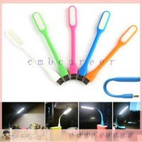 Wholesale Packaging For Led Lamps - Portable Mini USB LED MI Bendable Slim Lamp Light For PC Laptop Power Bank with retail packaging 200pcs lot