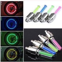 Wholesale Cool color of choice Bicycle Bike Valve light Bicycle Accessories tyre Caps Wheel spokes LED Light