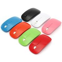 Wholesale Sans Fil Mouse Usb - Wholesale- Top Selling USB Optical Wireless Computer 1600 DPI Mouse 2.4G Receiver Super Slim Mouse For PC Laptop Desktop Souris Sans Fil