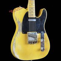 Wholesale Heavy Relic - 10S Custom Shop Masterbuilt Dale Wilson 1951 Heavy Relic Pale Blonde Electric Guitar