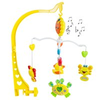 Commercio all'ingrosso- Giocattoli per bambini Giocattoli per bambini Sonaglio Colorful Baby Musical Recreation Ground Mobile Bed Campana Baby Rattle Rotante Staffa Proiezione Giocattoli