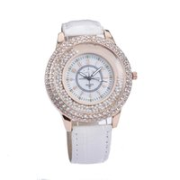 Wholesale Gold Faceted - Free shipping Set auger watch quicksand faceted ms dial watches han edition female table delicate fashion watches