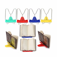 Wholesale Plastic Document Holders - 100pcs Portable Book Stand Adjustable Angle Foldable Reading Book Stand Document Holder Base Bookshelf Reading Office Supply ZA0596