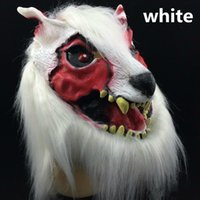 new scary wolf mask on sale halloween party mask creepy animal mask terrorist devil head costume brown black white color uk