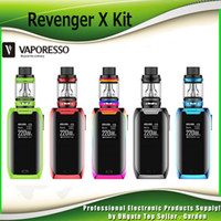 Wholesale Button Kits - Original Vaporesso Revenger X Starter Kits 220W with 2ml 5ml NRG Mini Tank Atomizer Touch Button TC Bod Mod Kit 100% Authentic