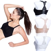 Wholesale Corset Padded White - Wholesale-Sexy Women beauty back embroidery wrapped chest with a chest pad Sexy female Strappy Crop Top Tank Bustier Bra Corset Vest