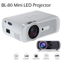 Wholesale Led Projectors For Home Theater - 2016 BL-80 Mini Portable LED Projector 1000 Lumens TFT LCD Full HD AV USB SD VGA HDMI For Video Games TV Home Theater Movie Proyector Beamer