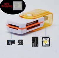 Wholesale memory stick micro sd adapter - Factory price multi card in 1 USB 2.0 adapter connector micro SD TF M2 memory stick MS Duo RS-MMC memory reader
