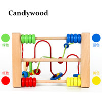 Wholesale Mazes Kids - 2017 New Baby Colorful Around Beads Funny Maze Beads Toys Educational Toy for Children Montessori baby toys