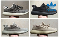 Wholesale Brown Oxfords - PU+RB Adidas Yeezy Boost 350 Pirate Black Turtle Dove Moonrock Oxford Tan Mens Running Shoes Women Kanye West Yeezy 350 Yeezys Original Box
