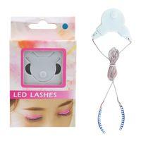 Wholesale Deco Kids - Interactive LED Eyelashes LED Lashes Shining Eyeliner Charming Unique Waterproof Eyelid Tape Nightclub DJ Deco Eyelash Glue Toys