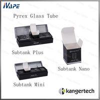 tubo de vidrio para kanger mini pyrex al por mayor-100% Orignal Kanger Pyrex Glass Tubes para Subtank Serie Subtank Mini Subtank Nano Subtank Plus Toptank mini