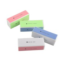 Wholesale nail file smoother buffer resale online - 4 sides Nail buffer block for Nail Art nail file buffer polish smooth nail buffers EMS