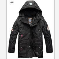 Wholesale Napapijri Down Coat - Fall-Men's Brand NAPAPIJRI Outdoor Down Jacket Men Waterproof Thickening Warm Hooded Down Coat Liner Detachable S-3XL free shipping