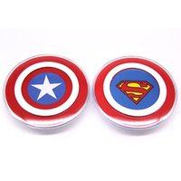 cargador inalámbrico s6 dhl al por mayor-Qi Pad de cargador inalámbrico estándar para Galaxy S6 / note7 Qi cargador inalámbrico Avengers Captain America para iPhone6s Plus iPhone6 DHL gratis