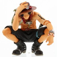 Wholesale Free Squat - Hot ! NEW 16cm One piece ace squatting action figure toys Christmas doll toy gifts free shipping